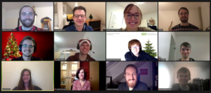 Screenshot of our virtual Christmas party